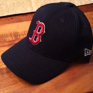 Set of Boston Red Sox baseball cap and visor
